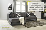Matters to Contemplate Before Purchasing a Sectional Couch