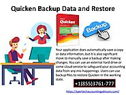 How to Backup and Restore Quicken Data? 1(855)3761-777