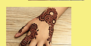 Simple Mehndi Designs For Hands For Beginners | Infographic