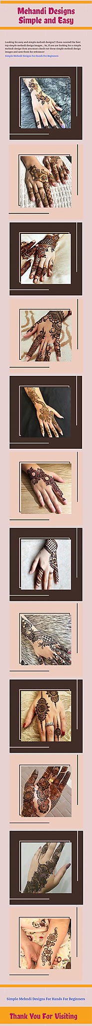 Mehandi Designs Simple and Easy | Infographic