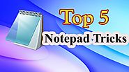 Top 5 Cool Notepad Tricks For Fun । EraIT