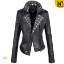 Women Black Punk Leather Jackets CW661023 - cwmalls.com