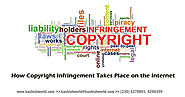 How Copyright Infringement Takes Place on the Internet