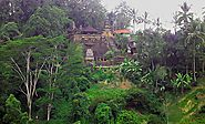 Hindu temple into the rainforest in Ubud