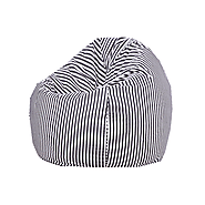 Black and White Organic Cotton Bean Bag Cover