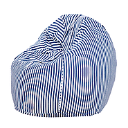 Blue and White Organic Cotton Bean Bag Cover