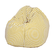 White and Yellow Organic Cotton Bean Bag Cover