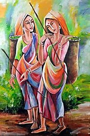 An Art of a Sri Lankan Women