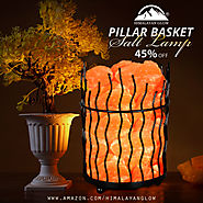 Himalayan glow basket salt lamp