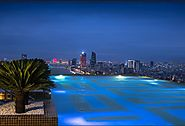 World's largest and highest 24K Gold Infinity Swimming Pool