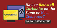 1-855-650-7555- How to Reinstall Carbonite New or same computer