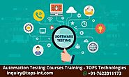 Automation Testing Training Course Certification