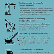Why mobile cranes are useful to propel the building and construction businesses? | Visual.ly