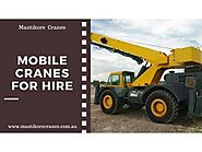 Mobile Cranes for Hire - Sydney