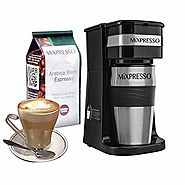Mixpresso Original Design Single Serve One Cup Coffee Maker K Cup Compatible Travel Brewer