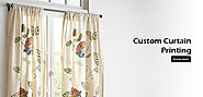 Nature and Floral Printed Curtain - Weaveron