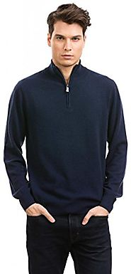 Citizen Cashmere Men's Half-Zip Jumper