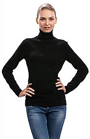 Citizen Cashmere Women's Roll Neck Jumper - 100% Cashmere