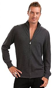 Citizen Cashmere Zip Up Cardigan for Men - 100% Cashmere