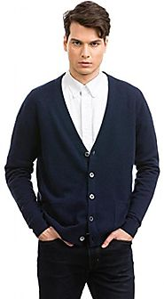 Gorgeous, Plush Feel Citizen Cashmere Long Sleeve Men's Cardigan