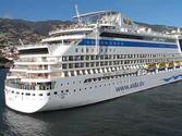 AIDAsol docking at the port of Funchal - Madeira - Portugal