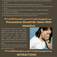 MODAFINIL AND ITS USAGE | Visual.ly