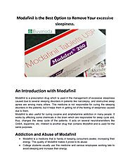 Buy Modafinil online in USA - Modafinil is the Best Option to Remove Your excessive sleepiness.