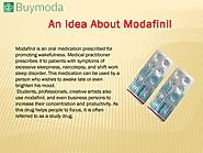 Buy Modafinil Online in USA | A Smart Drug Which Makes you Energetic during Working Hours.