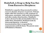 Modafinil, A Drug to Help You Out From Excessive Sleepiness. by Denial - Issuu