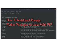 How To Install and Manage Python Packages on Linux With PIP