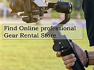 Find Online professional Gear Rental Store