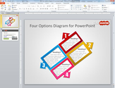 Four Options Diagram for PowerPoint