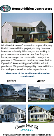 Find Home Addition Contractors | Henrick Home Construction