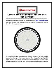 Contact The Best Supplier For The Best High Bay Light