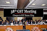 GST Return Filing Changes in 38 GST council meeting