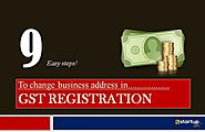 How to Update Business address in GST registration?