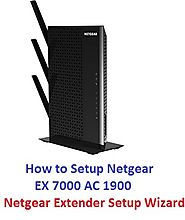 Untitled — How to Setup Netgear EX 7000 AC 1900