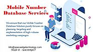 Mobile Number Database Services Provider | Mobile Number Database Services Provider | National/ International Mobile ...