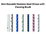 Best Reusable Stainless Steel Straws with Cleaning Brush