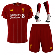 19-20 Liverpool Home Red Soccer Jerseys Kit on Sale