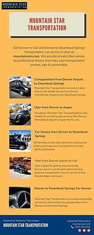 Transportation from Denver Airport to Steamboat Springs