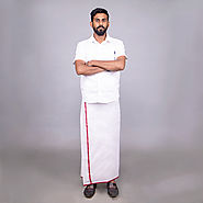 White Dhothi Online Shopping | Buy Online South Indian Dhoti - KKB Store