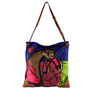 Hermes Multicolor Silk & Swift Leather Silky City Handbag
