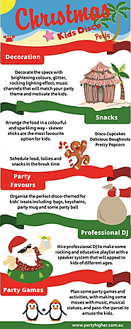 Christmas Kids Disco Party Ideas - Party Higher - Medium