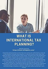 What Is International Tax Planning_