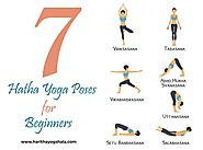 Listed below are the Hatha Yoga Poses for Beginners: