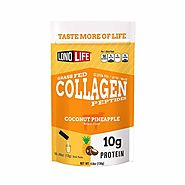 LonoLife Coconut Pineapple Collagen Peptides with 10g Protein, Paleo and Keto Friendly, 8-Ounce Stick Pack | LonoLife