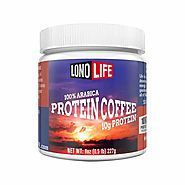 LonoLife Protein Coffee with 10g Protein, Paleo and Keto Friendly, 8-Ounce Bulk Container | LonoLife