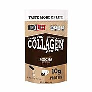 LonoLife Mocha Collagen Peptides with 10g Protein, Paleo and Keto Friendly, Stick Packs, 10 Count | LonoLife