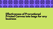 Effectiveness of Promotional Printed Canvas tote bags for any business : bags247 — LiveJournal